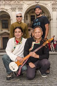 Techung musicians in Prague 2014