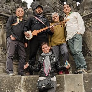 Techung musicians at Charles bridge in Prague 2014