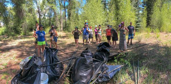 Shady Island River Access trash detail. 7/21/18