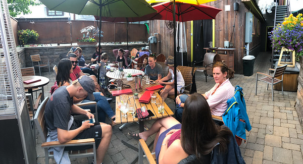 Montanya Rum Distillery, Crested Butte, CO. Can'd Aid volunteer happy hour Friday 7/20/18.