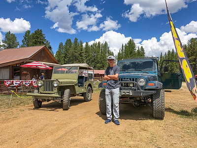 Ian and Jeeps. Tincup, CO. 7/22/18
