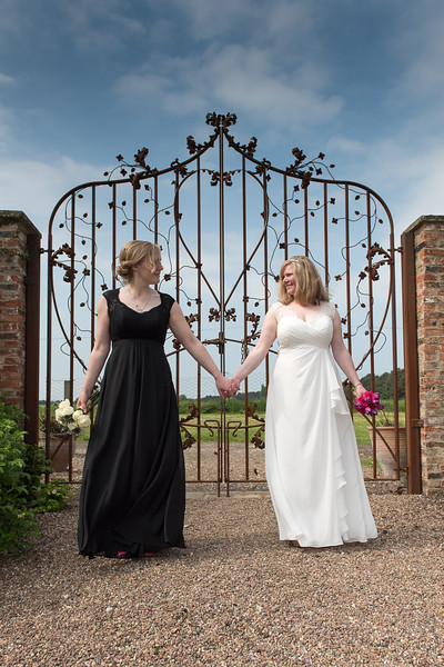 Helen Barrett & Hanneke Hart who were married at The Little Theatre, Skipwith Hall on 4th June.