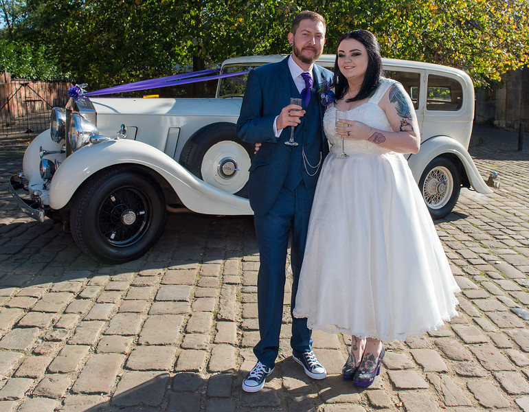 Miss Dorothy Crammen & Mr James Sandom of Durham who were married at York Register Office on 24th October followed by a reception at 1331 in York.<br /> Picture:  Kate Mallender