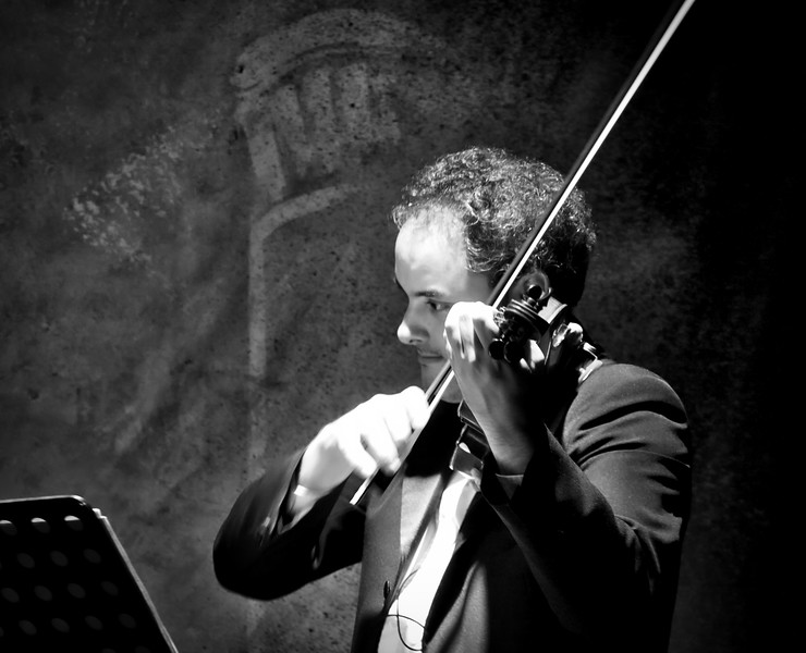 Violinist.  Tango Orchestra.