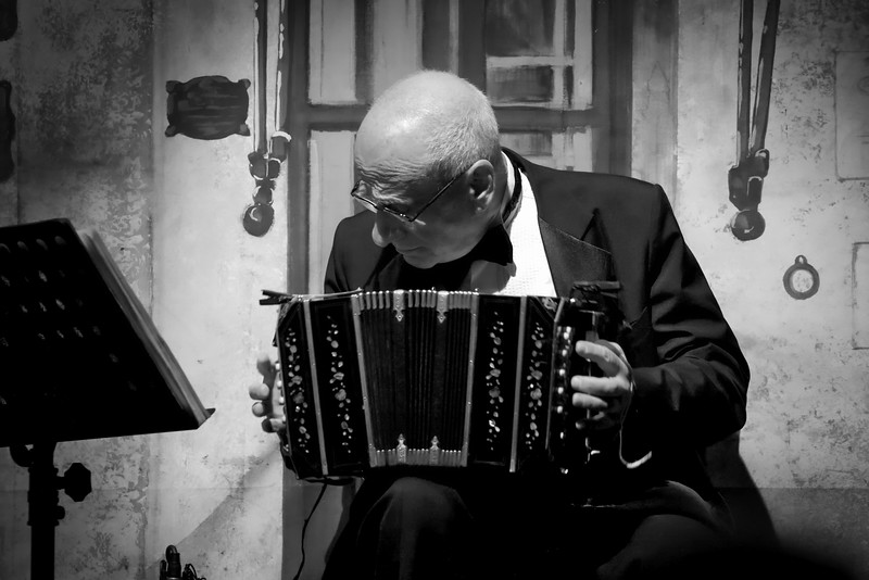 Accordion Player.  Tango orchestra.