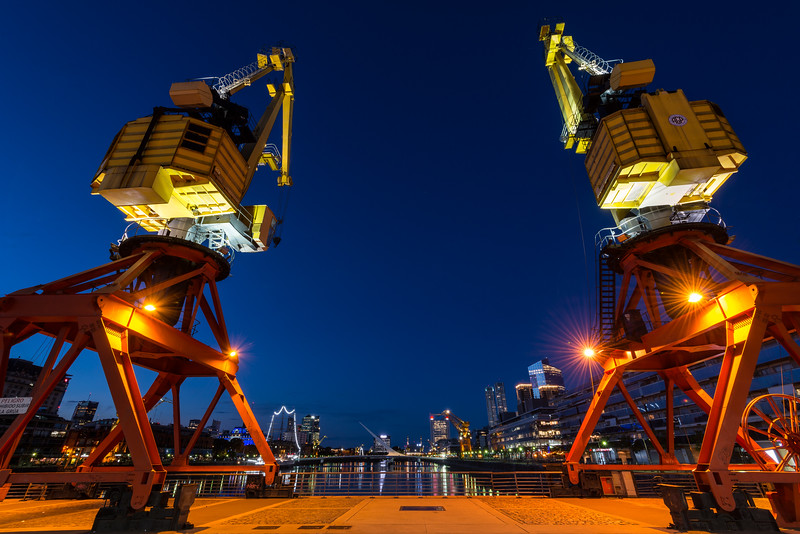 The Cranes of Puerto Madero, Buenos Aires