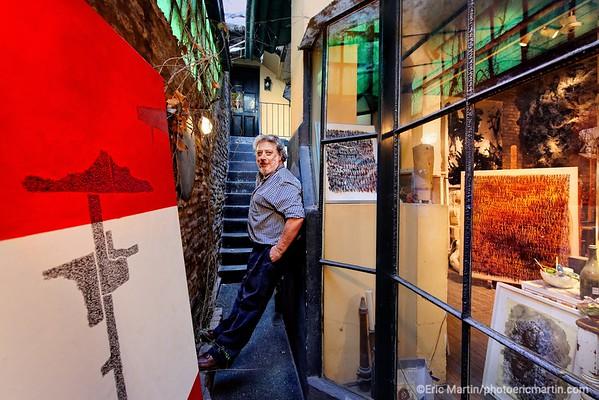ARGENTINE. BUENOS AIRES. QUARTIER DE PALERMO. Gabriela et Claudia  de Julart vous ouvre tous les ateliers d'artistes qui comptent comme ici celui de l'artiste Andres Waissman.