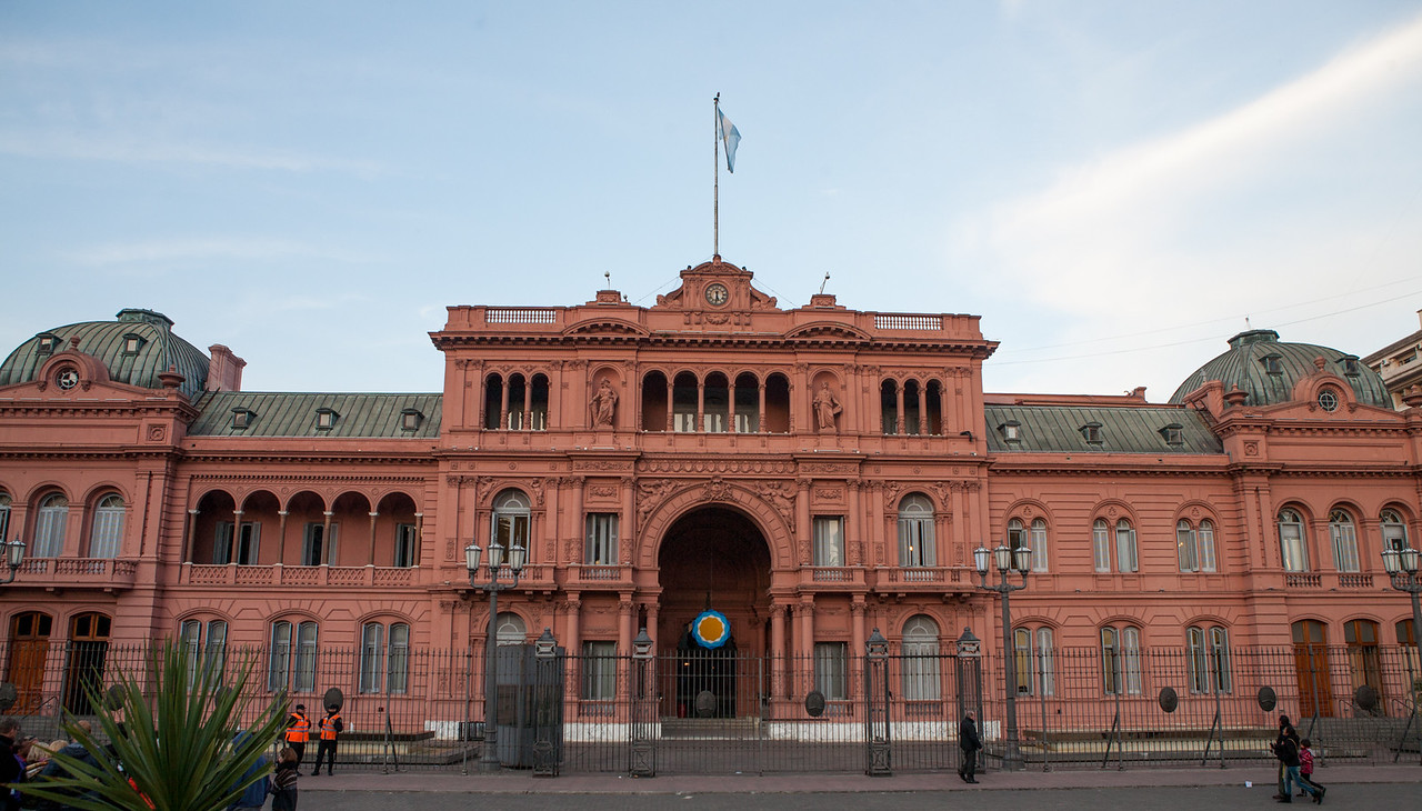 Pink House or Casa Rosada in Buenos Aires, Argentina