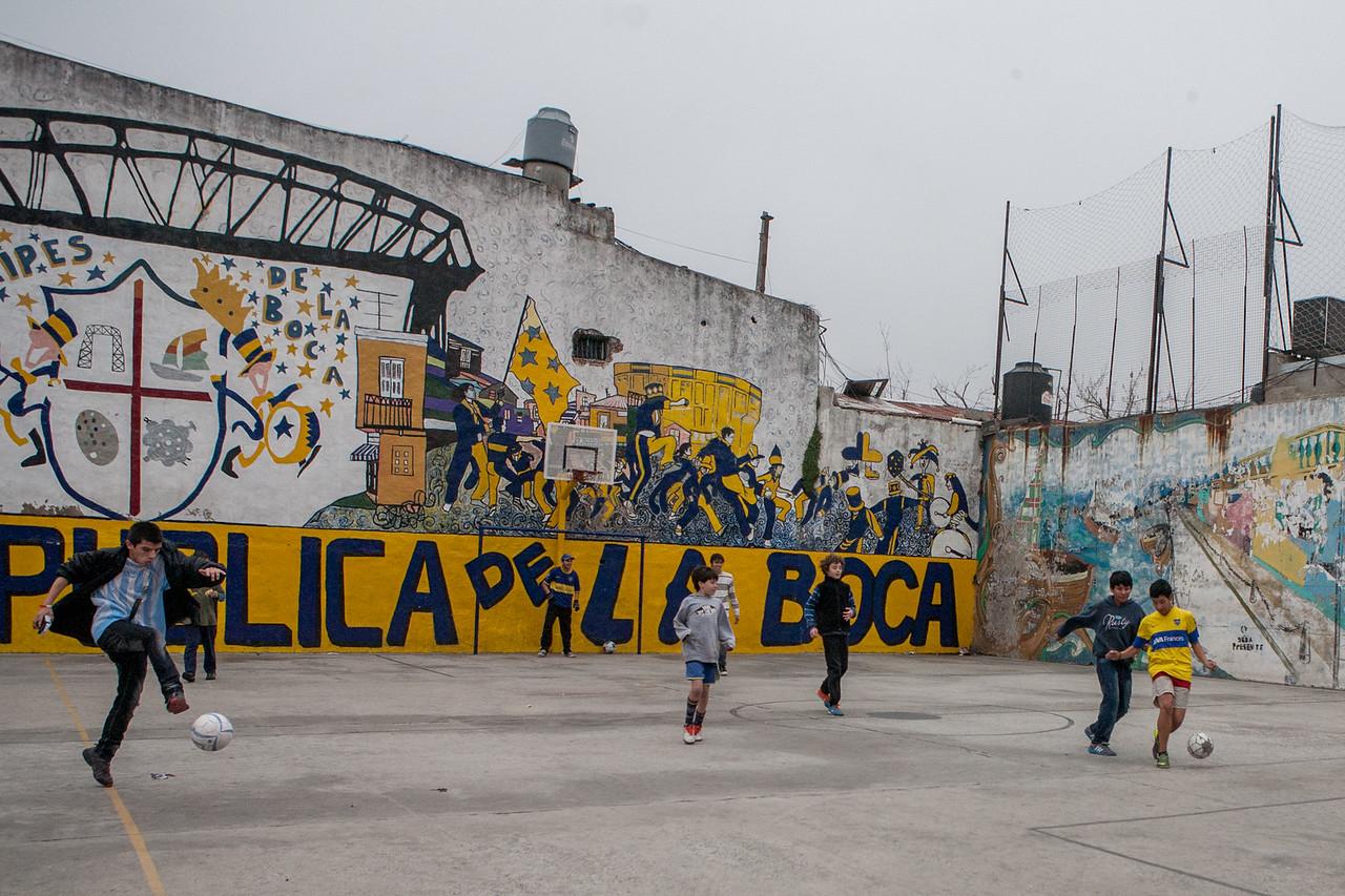 Football at La Boca Republic, Buenos Aires, Argentina