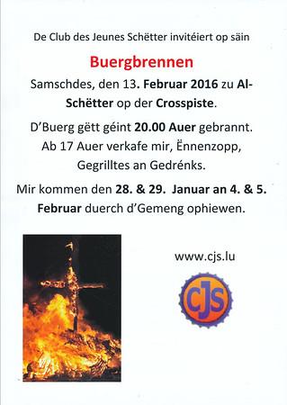 Buergbrennen - Club des Jeunes Schëtter