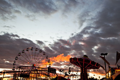 Sunset at the Erie County Fair - Buffalo NY