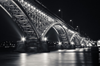 Peace Bridge at Night - Buffalo NY