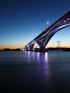 Peace Bridge at Night (Purple Lights) - Buffalo NY