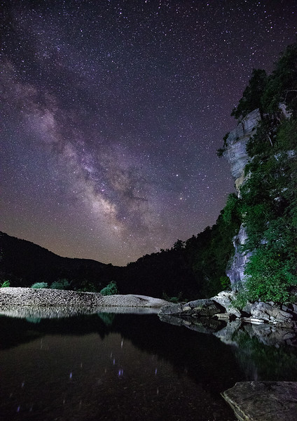 Buffalo River Milky Way at Steel Creek