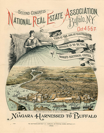 """Second Congress National Real Estate Association, Buffalo, NY<br /> """"This is the Age of Electricity: Buffalo is to be the World's Electrical Center"""", 1892"""