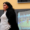 "CUSIGNING<br /> Liz Kritza, the head coach for the University of Colorado volleyball team, watches while videos of new players are shown at a press conference announcing the new recruits for the men's and women's basketball teams and the volleyball team. For more photos, see  <a href=""http://www.dailycamera.com"">http://www.dailycamera.com</a>.<br /> <br /> Photo by Marty Caivano/Nov. 9, 2011"