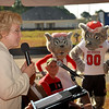 Athletics Director Debbie Yow talks about the Wolfpack's participation in the Build-A-Block project.