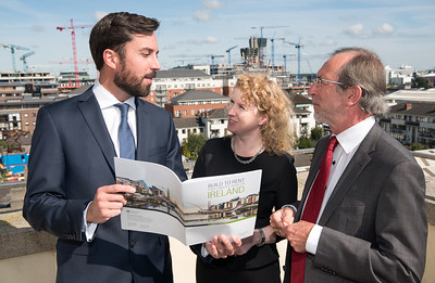 Eoghan Murphy TD Minister for Housing, Planning and Local Government, Rosalind Carroll, Director, Residential Tenancies Board Ireland and John Bruder, ULI Ireland Chair & Managing Director Burlington Real Estate