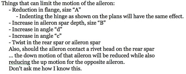 As noted earlier ... neutral position of the aileron bellcrank.