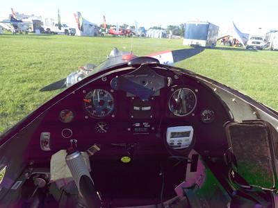 Instrument panel and view thru windshield