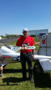 Dennis with his UltraCruiser which looks like a P-51 - BEST OF SHOW!