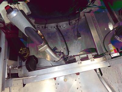 Control Stick Assembly - Top View of Spar Carry-Thru