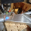Finish drilling using drill press