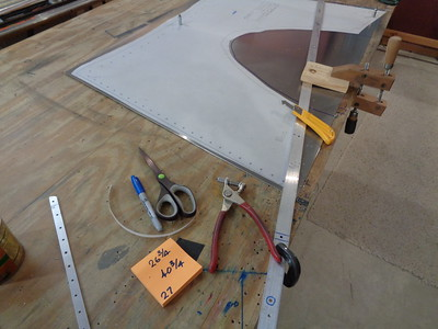 Guide bar clamped in place on 2-inch portion of the panel