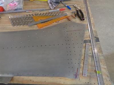 Motorbox Side Skin - Drilling pattern complete