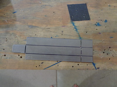 .040 aluminum cut to pattern ... ready for bending, trimming and deburring.