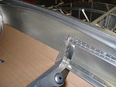 Charles Snyder: View of the rudder pushrod adjacent to the seatin area.