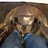 Foot room with tank installed ... size 13 shoes fit under tank.