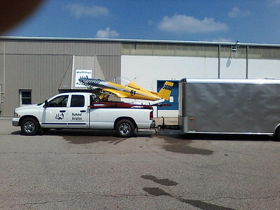 Hummelbird mounted on Truck Rail Carrier