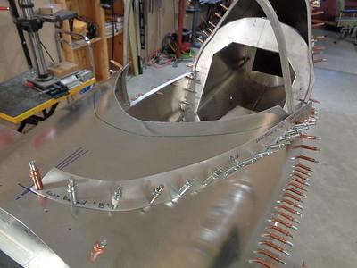 Windshield moulding installed.