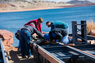 Building New Dock at Carter Lake