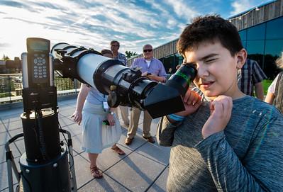 Child at Telescope