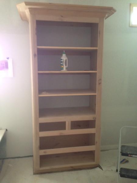 Linen Closet in Masterbath