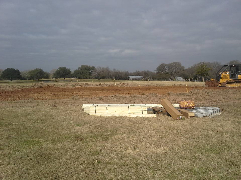 Sitework begin for the barndominium.