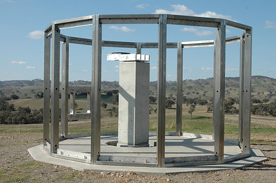 First there was Stonehenge. Here is SteelHenge. The pillar and mount are offset so that the 200Kg payload will balance exactly over the pier, and the centre of the forks will be exactly in the centre of the dome. The structure is rated for 220 KPH wind.