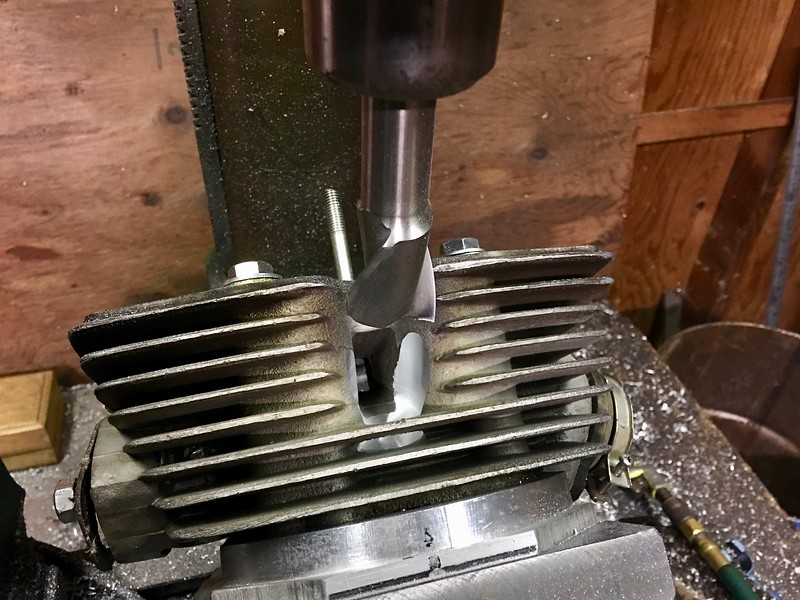 This how I machined the relief, using a two flute flat bottomed end mill.