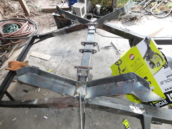 Getting ready to start inside welds on bottom of frame mod's.