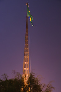 National Flag Pole, Brasilia. Sergio Bernardes, architect.