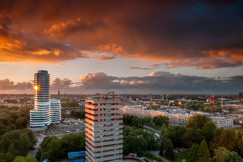 Afbraak kantoren Kempkersberg Groningen