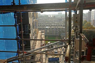 La Liberté  Nieuwbouw van Groningen woningstichting Patramonium. Architect Dominique Perrault, hoogte 72 meter.