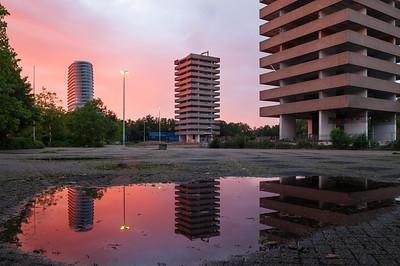 Afbraak flats Kempkersberg Groningen