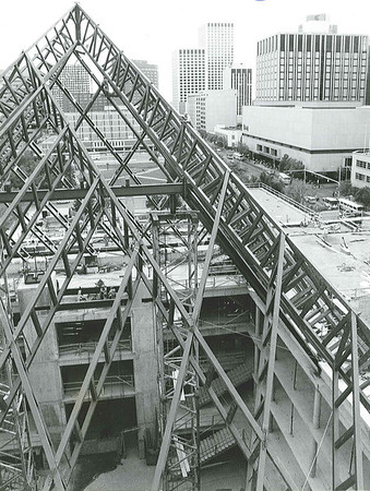 City Hall Construction 1991 roof and staircases