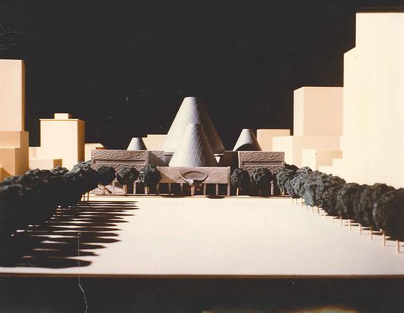 City Hall concept model 1990