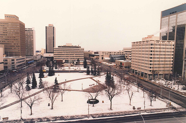 Churchill square in winter Jan 14/87