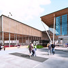Rendering of The Meadows Community Recreation Centre and The Meadows Public Library
