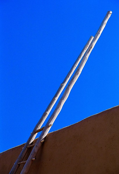 Taos Ladder In Morning Light.
